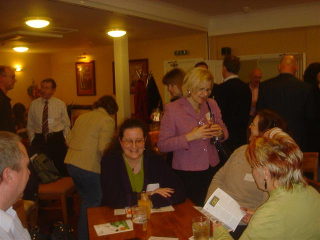 A group of serious networkers getting to know each other better